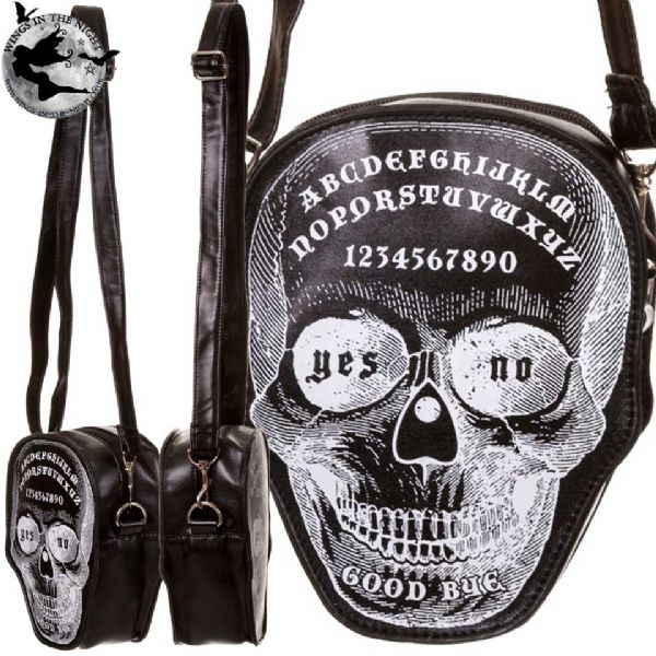 BANNED Gothic Ouija Skull Shoulder Bag